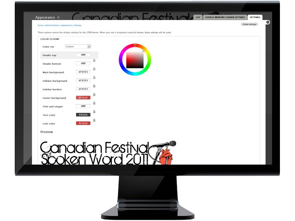 Colour scheme demonstration