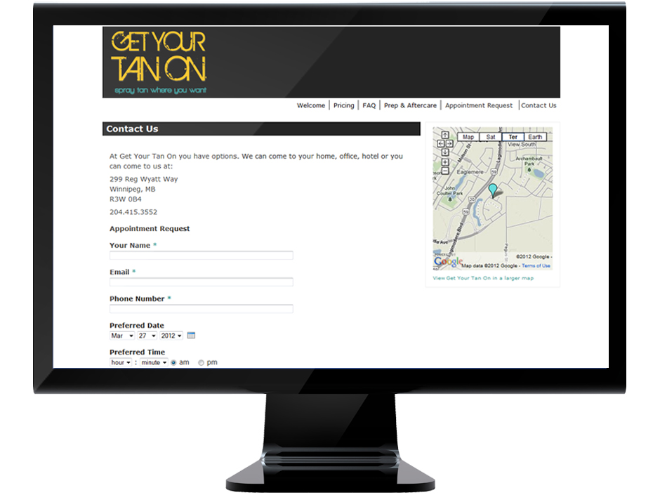 Website Design & Development, Appointment Request