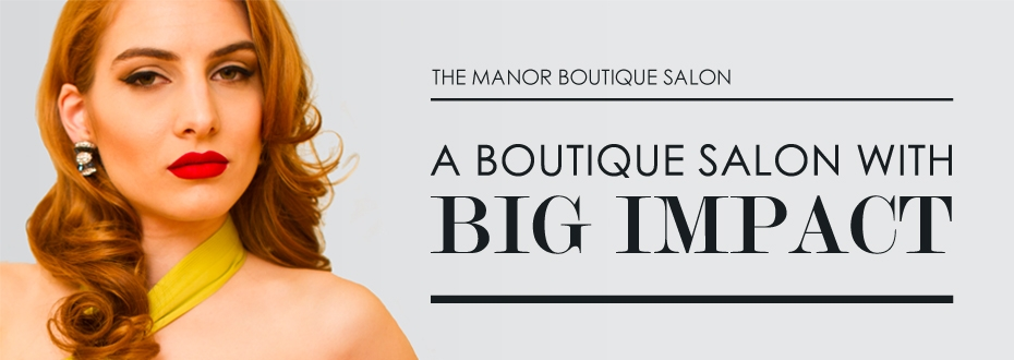 The Manor Boutique Salon: Website Design & Brochure Design